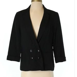 Lauren Conrad Black Blazer Size 4 Work Office